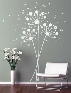 Dandelion Wall Decal   Wall Stickers Blowing Away In The Wind Vinyls Flower  Nature Living Room Bed Room Art | Pinterest | Dandelion Wall Decal, ...