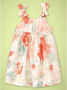 @MJ Alexandra Just got this little dress for Charlotte. Perfect for your wedding week. :) Bow strap dress | Gap