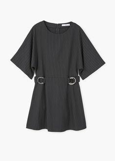 Платье с декоративными пряжками | MANGO МАНГО