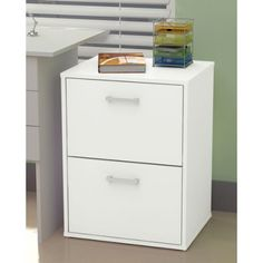 Baxter Two Drawer Filing Cabinet - White | Buy Office Shelving & Storage Online - oo.com.au