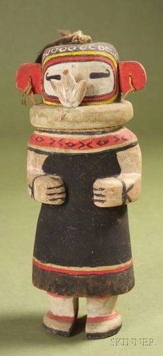 Southwest Polychrome Carved Wood Katcina | Sale Number 2346, Lot Number 322 | Skinner Auctioneers