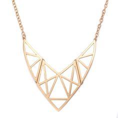 Gold Matte Boomerang Necklace!  #GoldJewelry #InspiredSilver #Gold #Jewelry #Necklace http://www.inspiredsilver.com/