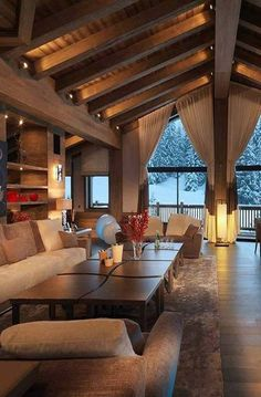 Dream Home Design, Home Interior Design, Interior Architecture, House Design, Modern Mountain Home, Modern Rustic Homes, Craftsman Style House Plans, Dream House Exterior, Home Deco