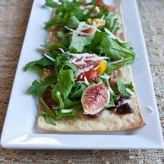 Fig & Arugula Lavash Pizza by foodjimoto #Pizza #Fig #Lavash #foodjimoto