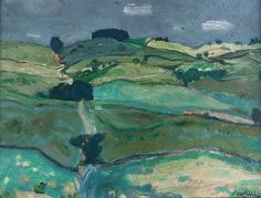 Sir William George Gillies - Borders Landscape, Medium: oils on board; Dimensions: X cm. Landscape Artwork, Abstract Landscape, Jackson Pollock, English Countryside, Archaeology, Cool Art, Artsy, Watercolor, Scotch