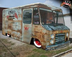 Hot rod chevy stepvan - could be food truck Rat Rod Trucks, Rat Rods, Diesel Trucks, Cool Trucks, Truck Drivers, Dodge Trucks, Big Trucks, Pickup Trucks, Small Trucks