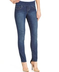 Jag Nora Pull-On Skinny Jeans - Blue 16