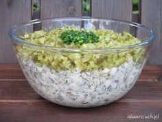 Sałatka pieczarkowa Kitchen Magic, Tzatziki, Tortellini, Potato Salad, Macaroni And Cheese, Buffet, Grilling, Mango, Easy Meals