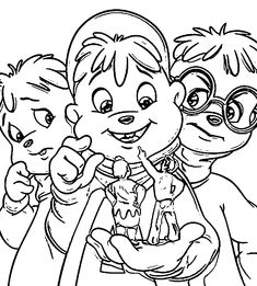 alvin chipmunks halloween coloring pages - photo#36