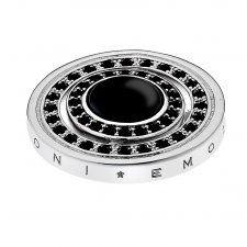 Emozioni 25mm Silver Plate Reversible Giorno e Notte Coin EC228