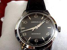 Vintage 1966 Caravelle by Bulova Men's Watch with Leather Band  #CaravellebyBulova #Dress