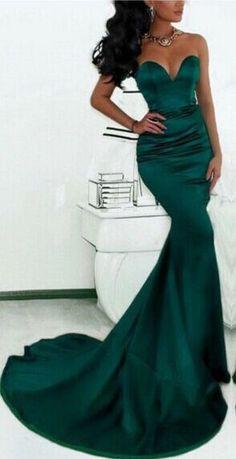 $99-dark green mermaid evening gowns_prom dresses long_prom dresses long open back_