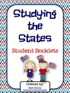 Create a state fact book with your students!  Great addition to a Flat Stanley project or Postcard Exchange.