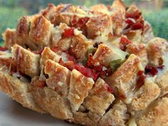 Jalapeño Popper Pull-Apart Bread #fourthofJULY #themedfood