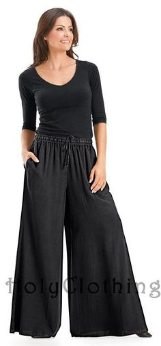 Shop Lauren Easy Care Boho Wide Leg Drawstring Long Palazzo Pants in Black Midnight: http://holyclothing.com/index.php/pants/lauren-easy-care-boho-wide-leg-drawstring-long-palazzo-pants.html. Repins are always appreciated :) #HolyClothing #fashion #EasyCare #Boho #Wide #Leg #Drawstring #Long #Palazzo #Pants