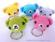 Teddy Bear Keychain FREE Crochet Pattern
