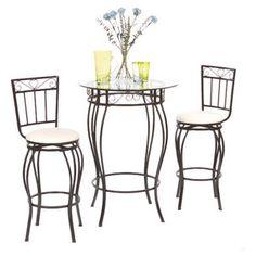 TMS Gabriella 3 Piece Pub Table Set