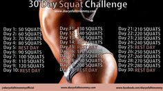 Diary of a Fit Mommy » 30 Day Squat Challenge