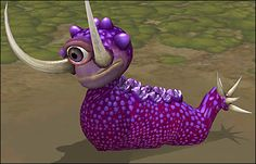A creature from the computer game Spore