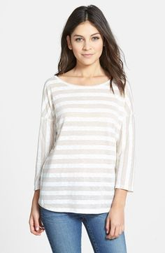 Women's Caslon Stripe Relaxed Tee
