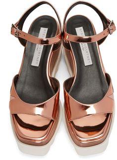 ed9b46dfc01 Stella McCartney - Copper Platform Star Elyse Sandals Stella Mccartney  Sandals