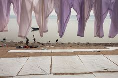 Dhobi ghats, Varanasi | Drying linen by the Ganges river on … | Flickr