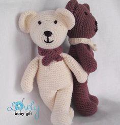 Bear Stuffed Animal Pattern Crochet pattern by LovelyBabyGift