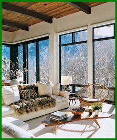 Eclectic Modern Rustic Mountain Home Design. Love the cozy hygge and the floor to ceiling windows are brilliant! Would you like to explore Modern Rustic for your home? Home Design Diy, Modern Interior Design, Modern Decor, House Design, Eclectic Modern, Modern Rustic, Modern Luxury, Rustic Wood, Interior Ideas