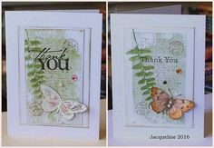 Set of two Thank You Cards by SouvenirdelaFrance on Etsy
