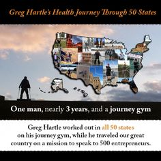 Greg Hartle Finishes 50 State Tour & Workouts In Each State On journey gym | journey gym portable universal gym, multi gym, home gym for all...