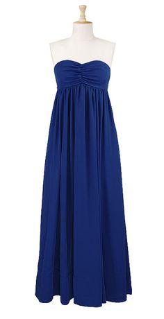 Buttoned straps crepe maxi dress    $69.95