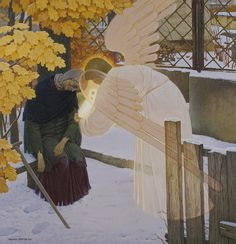 Angel Taking the Soul of Xenia of Petersburg, by Alexander Just