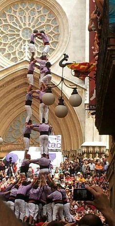 "Tarragona - The famous ""castells"" on Tarragona day."