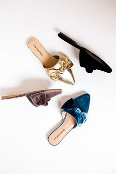 Velvet Bow Flats | 5 Colors!