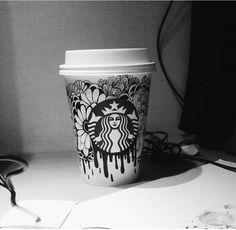 細やかで美しい!スターバックスのカップに絵を描く「カップアート」が話題