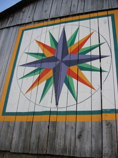 mariners compass quilt barn