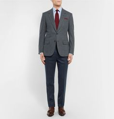 <b>Designed exclusively for MR PORTER.</b> <a href='http://www.mrporter.com/mens/Designers/Kingsman'>Kingsman</a> touts itself as a brand for the modern gentleman and exudes elegant British style. Sporting a sophisticated tonal-grey and brown Prince of Wales check, this blazer is immaculately tailored from smooth wool that feels comfortable and lightweight to wear. It's finished with a ticket pocket - a particularly ...