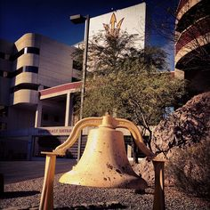 I have no idea where this is on campus. lol. Victory Bell #ASU #SunDevils #FearTheFork