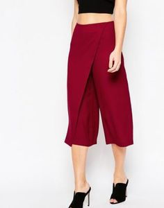 Shop the latest ASOS Culotte Pants with Wrap Front trends with ASOS! Fashion Art, Fashion Online, Womens Fashion, Culotte Pants, Trousers, Clothing Patterns, Passion For Fashion, Latest Trends, Active Wear