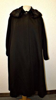 Vintage 1960s Coat Wool 60s Mink Fur by VintageClothingDream, $75.00