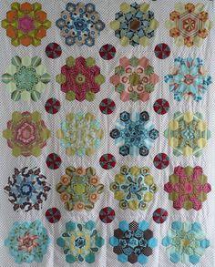 Kaleidoscope hexie quilt