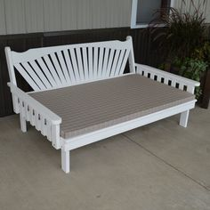 Outdoor A & L Furniture Yellow Pine Fanback Daybed Oak Stain