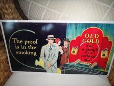 Vintage Old Gold Cigarettes metal sign The Proof by MilliesAttique