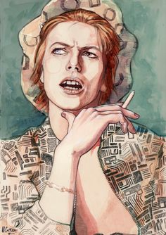 Helen Green creates a GIF animation of David Bowie from the onwards, showing us just how much of a chameleon he was during the span of his career. Glam Rock, Helen Green, David Bowie Born, Bowie Starman, The Thin White Duke, Simple Portrait, Ziggy Stardust, Record Producer, The Man