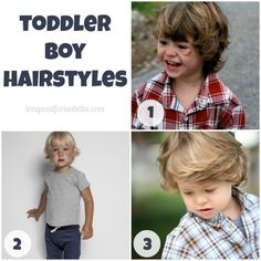 My son needs a hair cut. Toddler Boy Hairstyles - which is your favorite?