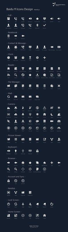 Baidu YI Icons Design-01