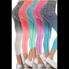 DENIM BLUE ombré yoga capri active workout pants Brand new retail item. Sizes available: small, medium and large in pink, blue, and Aqua. 63% nylon, 29% polyester, and 8% spandex. High banded waist for the perfectly flattering look. This listing is for one pair of your color choice.❤️ all photos used with permission of designer. Skye dye printed ombré yoga capri active pants Boutique Pants Capris