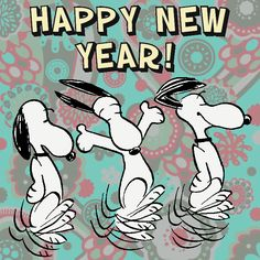 Snoopy / Peanuts - Happy New Year - Charles Schulz
