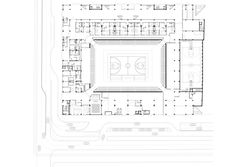 Multifunctional Sports Hall,Ground Floor Plan