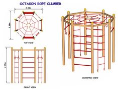 DIY Climber for small yard. Add solid, partially enclosed deck at the top. And more options for clim Kids Outdoor Play, Kids Play Area, Backyard For Kids, Diy For Kids, Play Areas, Backyard Ideas, Natural Playground, Backyard Playground, Backyard Playset